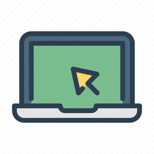 Click, computer, laptop, screen icon - Download on Iconfinder