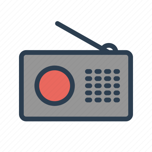 broadcast, communication, fm, radio, reciever, signal, transmission icon