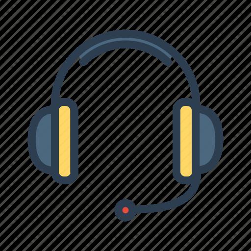 audio, communication, equipment, headphones, multimedia, music, talk icon
