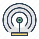 broadcast, communication, radio, signal, tower, transmission, wifi icon