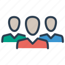 communication, community, friends, group, network, team, teamwork icon