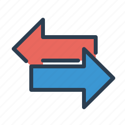 arrows, communication, connection, swap, switch, transaction, transfer icon