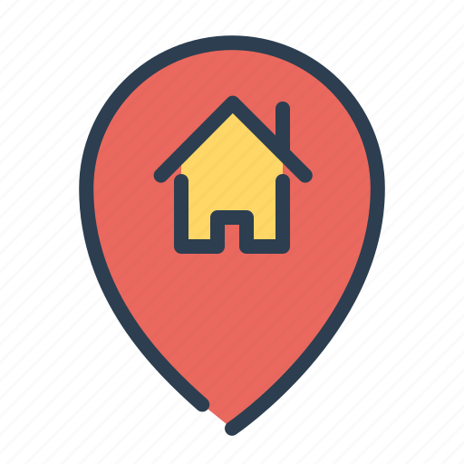 home loan, house, location, marker, pin, property, real estate icon