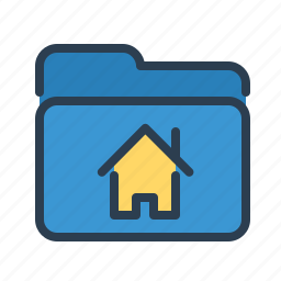 archieve, directory, folder, home, house, property documentation, real estate icon