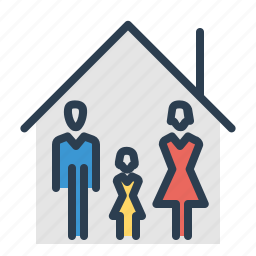 apartment, family, home, house, property, real estate, roof icon