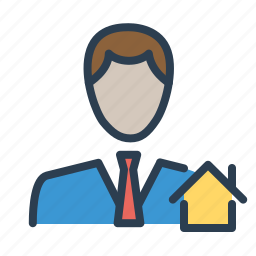 agent, building, consultant, house, real estate, realtor icon