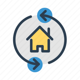 apartment, arrows, building, home loan, house, property, real estate icon
