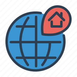 address, house, location, map, pin, property, real estate icon