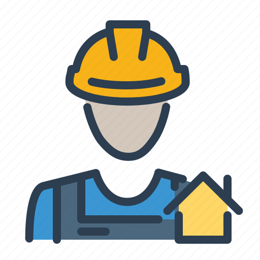 agent, builder, consultant, house, real estate, service, worker icon