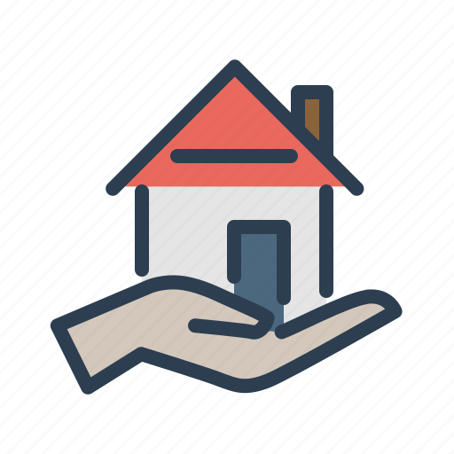 Hand, home loan, house, property icon - Download on Iconfinder