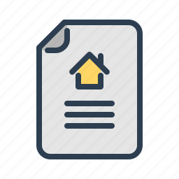 contract, document, file, home, house, property, real estate icon