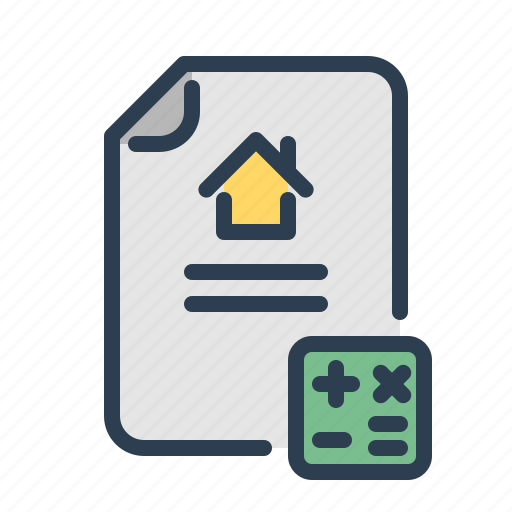 calculation, mortgage, price, real estate, sell house icon