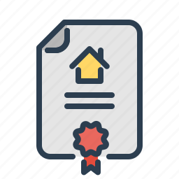 apartment document, contract, home loan, house, property, real estate, rent agreement icon