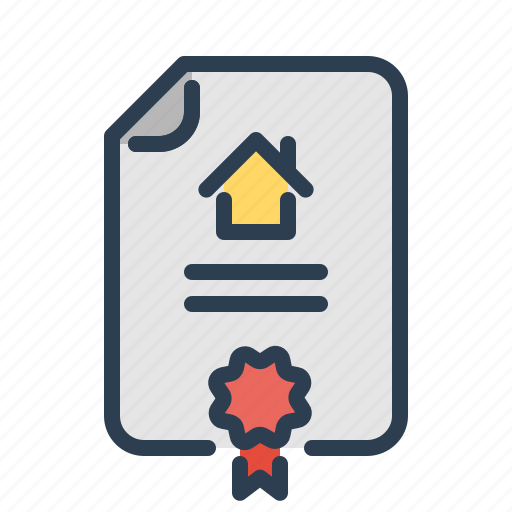 Apartment Loans: Apartment Document, Contract, Home Loan, Rent Agreement Icon