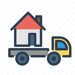 auto, building, car, property, real estate, transfer, transportation icon