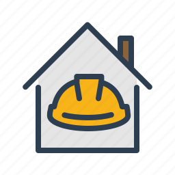 apartment, building construction, hard hat, property, real estate, renovation, repair icon