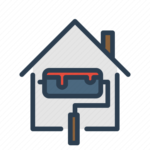 building, paint, real estate, renovation, repair icon