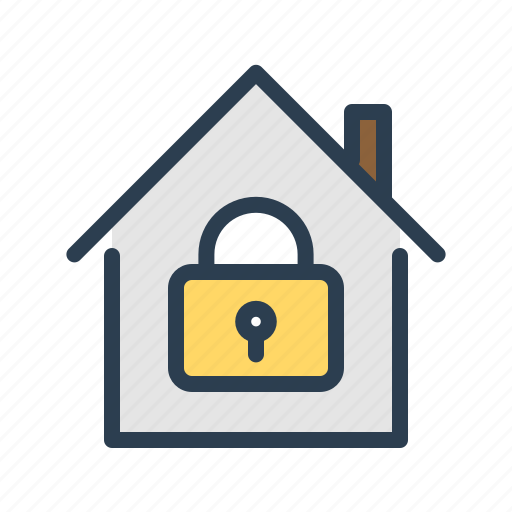 house, lock, private, property, real estate, reserved, secure icon