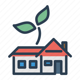 building, garden, hone loan, house, plant, property, real estate icon