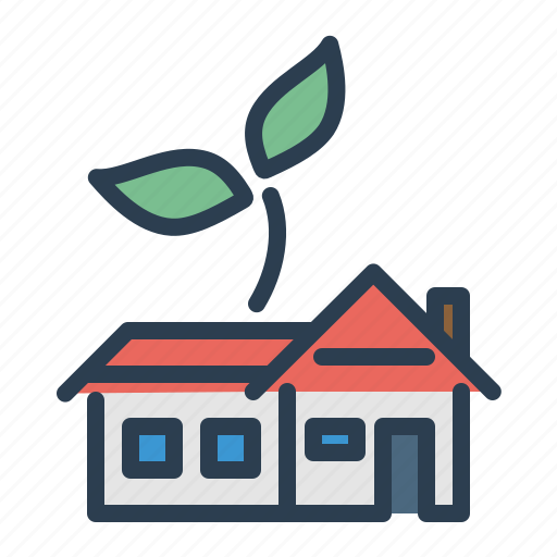 building, garden, house, plant, property icon