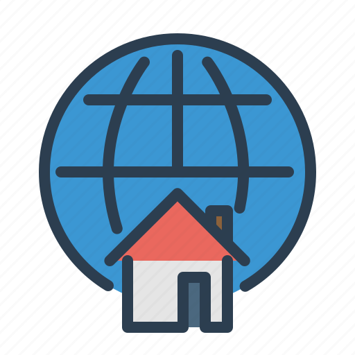 home loan, house, location, man, property, real estate, world icon