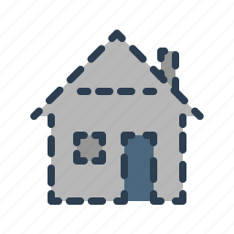 deleted, house, invisible, missing, property, real estate, sold icon