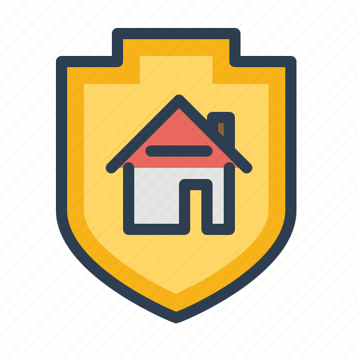 home, house, property insuarence, protected, real estate, secure, shield icon