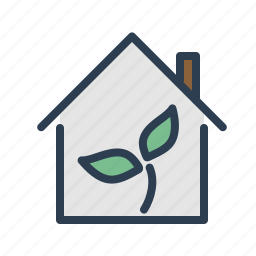 apartment, flower, house, investment, plant, property, real estate icon