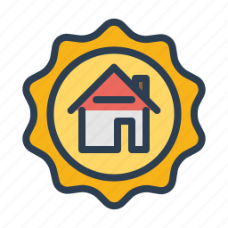 approved, experience, real estate, realtor, seal, top seller, trusted icon