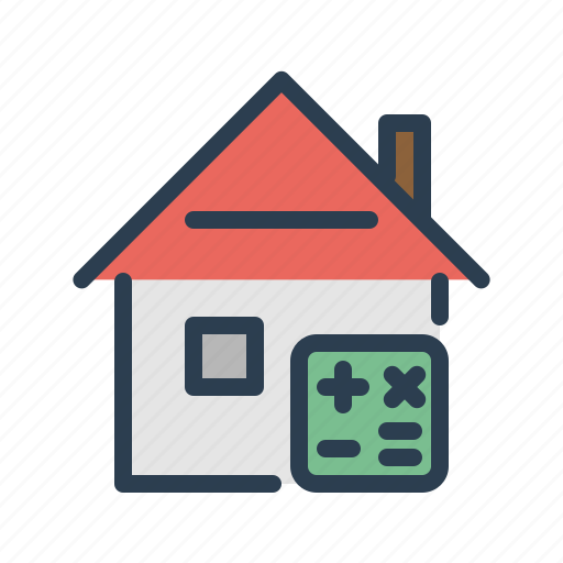 apartment, calc, calcutation, house, price, property, real estate icon