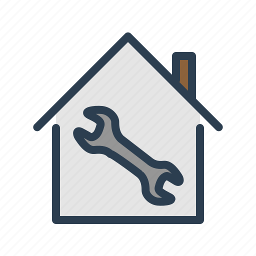 building service, house, property, real estate, renovation, repair, wrench icon