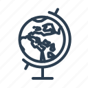 earth, education, globe, navigation, planet, schoo, world icon