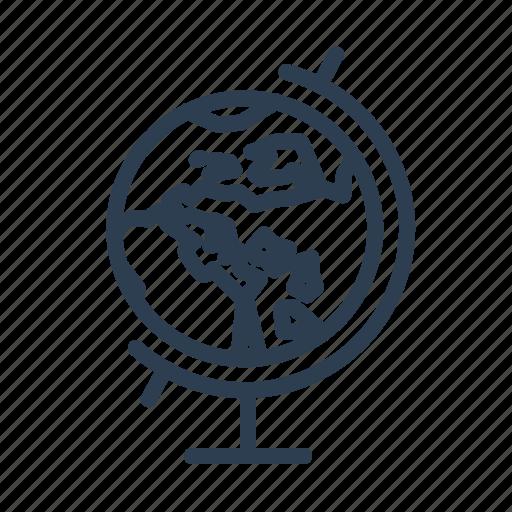 earth, education, globe, navigation, planet, schoo, world icon