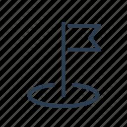 destination, flag, location, marker, pin, pointer, position icon