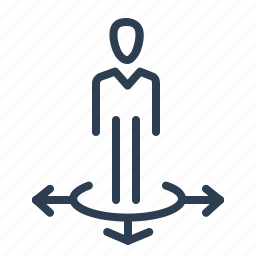 business, business solution, direction, location, man, stand, ways icon