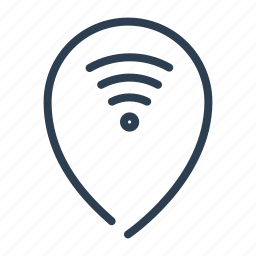 connection, hotspot, location, map, pin, pointer, wifi icon