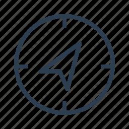 arrow, compass, destination, direction, location, navigate, navigation icon