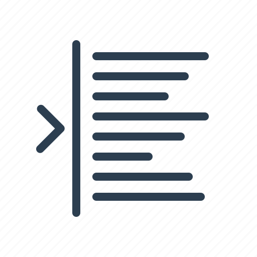 editing, indent, left, margin, paragraph, text, typography icon