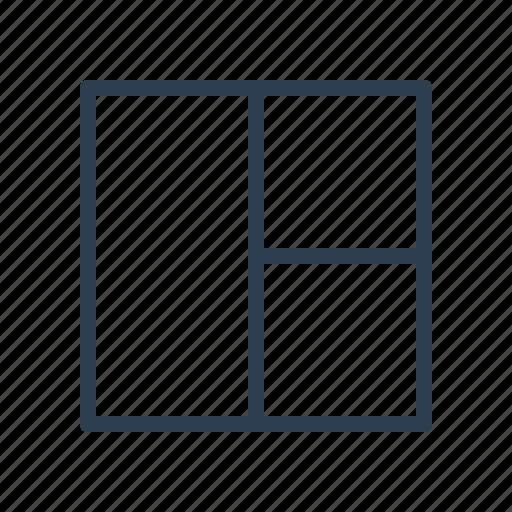 grid, interface, layout, sidebar, workspace icon