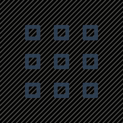 blocks, grid, interface, layout, thumbnails, tiles icon