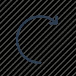 arrow, forward, next, redo, refresh, repeat, rise icon
