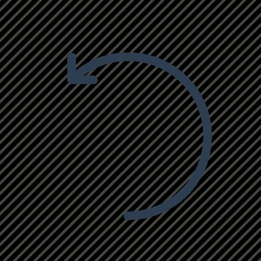 arrow, back, previous, reverse, revert, rotate, undo icon
