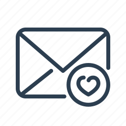 email, envelope, favourite, heart, letter, mail, message icon