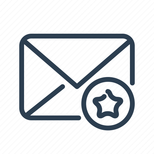 email, envelope, flagged, letter, mail, message, star icon