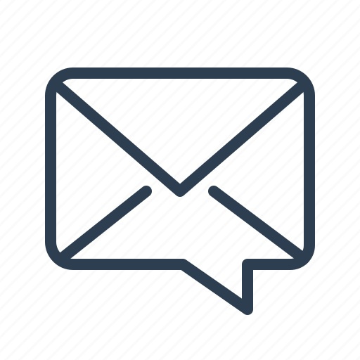 comment, dialogue, email, envelope, letter, message, support icon
