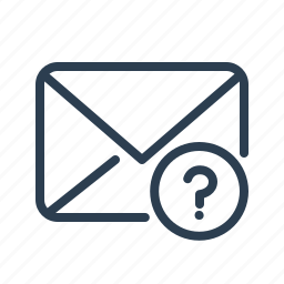 email, envelope, letter, mail, message, question, support icon