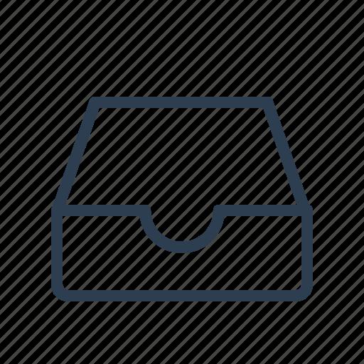archieve, document folder, documents, drawer, files, inbox, mailbox icon