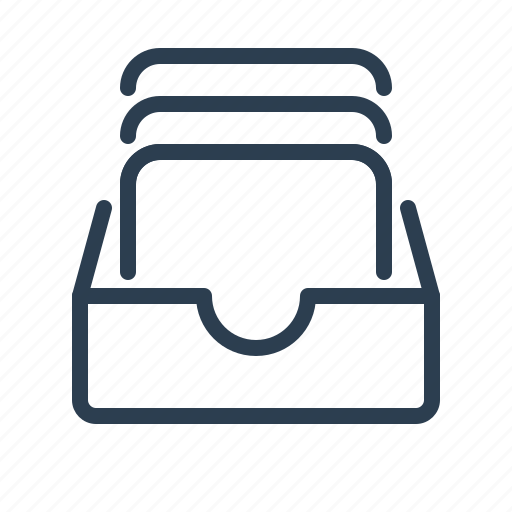 archieve, attachments, documents, draw, files, folder, mailbox icon