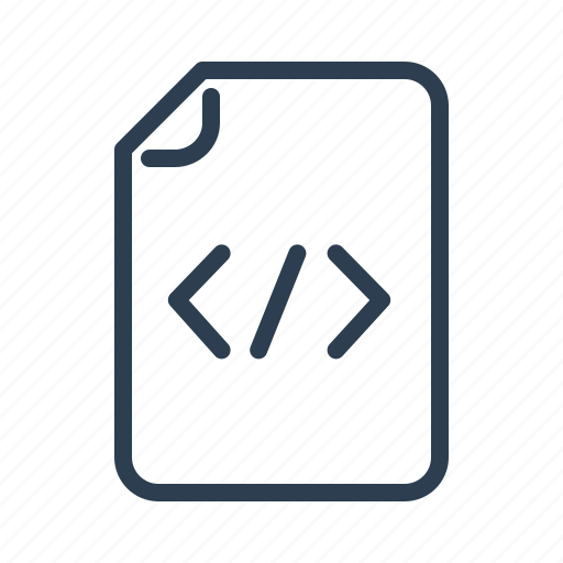 clean code, codding, document, file, format, page, programming icon