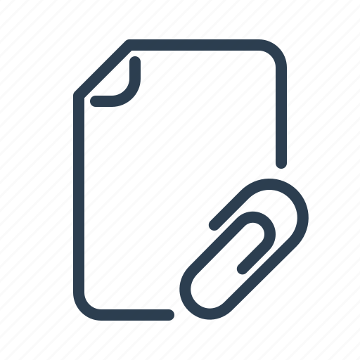 attach, attachment, document, fastener, file, format, page icon
